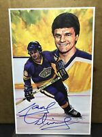 1994 LEGENDS OF HOCKEY MARCEL DIONNE AUTOGRAPHED POSTCARD Auto Signed Kings