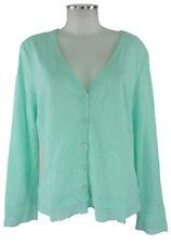 (the Mercer) n.y. Cardigan 40 turquesa chaqueta de punto chaqueta algodón lino