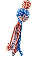 KONG Patriotic Wubba Medley for Dog Toy Red white & blue multi patterned