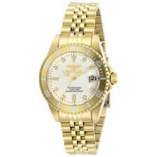 Invicta Women's Watch Pro Diver Quartz White Dial Yellow Gold Bracelet 29192