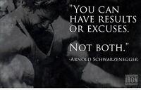 206177 Arnold Schwarzenegger Conquer bodybuilding gym GLOSSY POSTER  AU