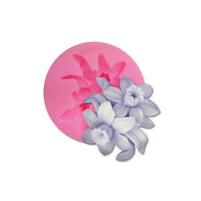 New D-Flowers Silicone DIY Cake Fondant Chocolate Cookies Decorate Mold Tools