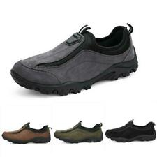 Mens Slip On Low Top Loafers Casual suede  Climbing Trainers Outdoor Shoes