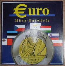 Europa KMS 2003 Euro Probe Münz Entwürfe Sammelmappe CZ, M, PL, H, SLO, EST, ZY
