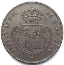 Espagne Isabel II Medio Real 1848 Madrid #1173