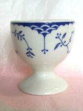 RARE SHENANGO BLUE Flowers & Scale EGG CUP HOLDER ENGLAND