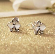 Authentic PANDORA WHITE ORCHID Earrings  #290749EN12