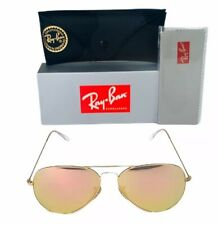 Ray-Ban Aviator Classic RB3025 112/Z2 GOLD Sunglasses 58mm Mirror Pink Lens