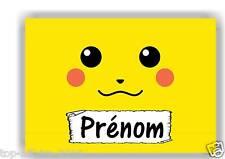 Plaque de porte en ( sur ) bois  Pokémon Pikachu  avec prénom   N° 147