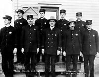 "1908 Gary, Indiana Police Force Vintage Photograph 8.5"" x 11"" Reprint"