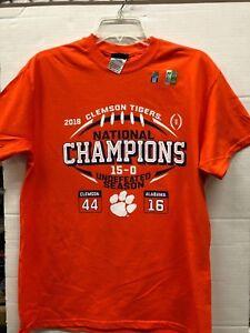 Elite Fan Shop Clemson Tigers National Champs Tshirt 2018-2019 Banners Orange