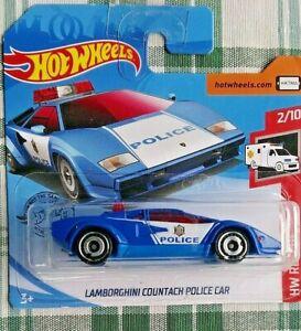 LAMBORGHINI Countach POLICE Car 1.64 HOT WHEELS