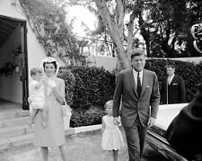 President John F. Kennedy and family after Easter Mass 1962 - New 8x10 Photo