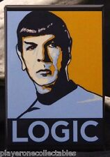 "Spock ""Logic"" 2"" X 3"" Fridge / Locker Magnet. Star Trek, Leonard Nimoy."