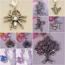 ♥ Charm Anhänger silber Spinne Strass Apfel Amor Zentauer Baum Tweety Herz  ♥
