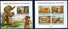 BURUNDI 2013 HOMMES PREHISTORIQUES ET ART PARIETAL ANCIENT HUMA IMPERF STAMP MNH