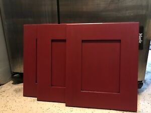 """(1) Cabinet Door Solid Maple 14 1/2"""" X 17 1/2""""  Vintage Cayenne Red"""