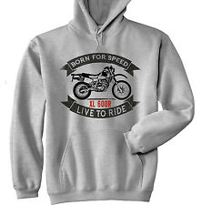Honda XL 600R - NEW  GREY HOODIE - ALL SIZES IN STOCK
