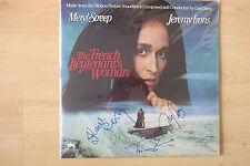 """The French Lieutenant's Woman AUTOGRAPHEs signed LP-Cover """"Bande Originale"""" Vinyle"""