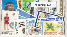 Gibraltar    US  Paquete  50 sellos diferentes
