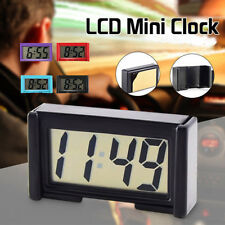 Pocket Small Mini Digital Car Clock LCD Display Self-Adhesive Bracket Dashboard
