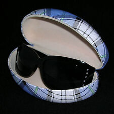 Black Sunglasses w Crystals & Grey Lenses & Clamshell Case #812g