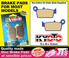 REAR SET OF DISC PADS BRAKE PADS FOR SUZUKI DR-Z400 EK4 EK5 SK5 SK6 K6 (00-09)