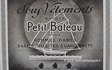 PUBLICITE PETIT BATEAU SOUS VETEMENT BEBE FILLETTE GARCONNET DE 1943 ADVERT PUB