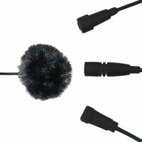 FURRY WINDSHIELD WINDSCREEN COVER FOR LAPEL LAVALIER MICROPHONE STOPS WIND NOISE