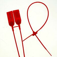 (5)Red Plastic Lead Seal Used Tanker Container With Metal Plate Serial Number