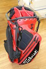 MINT Titleist Players Hybrid 5 Stand Bag Red Black + Rain Hood Dual Strap