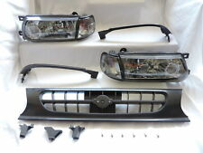 Smoke Headlights Smoke Corner Grill Conversion For~91~92~93-94~Nissan B13 Sentra