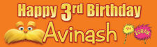 """Lorax - 18""""x60"""" Birthday Banner customize add child's name and age"""