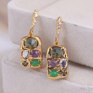Alexis Bittar Metallic Small Drop Clutch Earrings free shipping