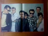 """MADNESS 22"""" x 15"""" DOUBLE PAGE SPREAD MAGAZINE POSTER COLOUR 1982 POP NUTTY BOYS"""