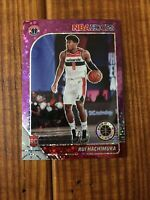 2019-20 NBA Hoops Premium Stock Rui Hachimura Purple Disco RC Wizards Rookie