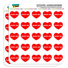 """1"""" Scrapbooking Crafting Stickers I Love Heart Animals P-S"""