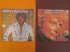 JOHNNY HALLYDAY : La fille du square + Le bon temps du rock and roll
