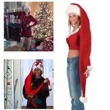 Extra Long Christmas Hat Santa Claus Costume Holiday Elf Cap Xmas Headgear LC