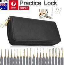 28pcs Practice Lock Pick Picking Tool Kit Padlock Locksmith Unlocking Tool Set