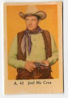 1950s Sueco Estrella Cine CARTA A JUEGO #42 Americano Vaquero actor Joel McCrea
