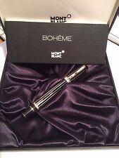 MONTBLANC Boheme Platinum-Plated Crystal Rollerball Pen 7519 Eccellenti condiz