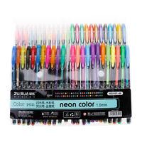 48 Colors Gel Pens Rollerball Pastel Neon Sketch Drawing Color Pen Set Markers