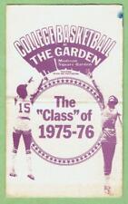 MADISON SQUARE GARDEN ~ 1975-76 College Basketball Schedule