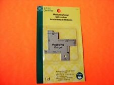 Dritz Sewing / Quilting Measuring Gauge -14 Commonly used measurements 1/8