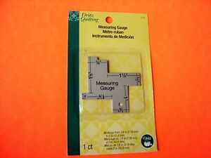 """Dritz Sewing / Quilting Measuring Gauge -14 Commonly used measurements 1/8"""" - 2"""""""