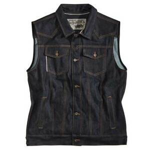 Rokker Team Denim Motorbike Motorcycle Vest