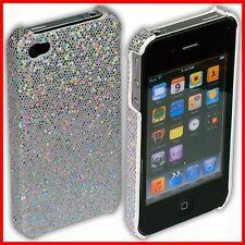 iPhone 4S / 4 Rückschale Case Bumper Tasche Hülle Schale S i Phone glitzer weiß