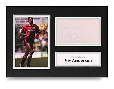 Viv Anderson Signed A4 Photo Man Utd Autograph Display Memorabilia + COA