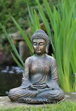 Garden Ornament Sitting Buddha Stone Zen Effect Outdoor Indoor Statue Thai